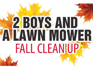 Contact Two Boys and a Lawn Mower for fall leaves yard clean up