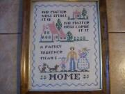 Vintage Sampler Framed