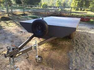 3500kg GVM 4.5m x 2.5m wide Near New Flatbed Trailer with Ramps Logan Village Logan Area Preview