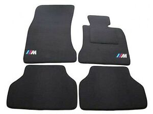 BMW 5 Series E60 Saloon 2003-2010 Carpet Car Mats (4-T Clips) M Sport Logos