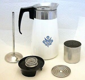 9 Cup Cornflower Blue Corning Ware Coffee and Tea Pot