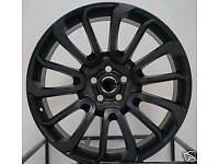 "NEW 22"" RANGE ROVER AUTOBIOGRAPHY STYLE ALLOY WHEELS X4 BOXED 5X120 SPORT VOGUE VW TRANSPORTER T5 T6"