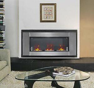"""53.5"""" Wall Mounted Bio Ethanol Fireplace Gel Fuel Burners with3 cans / Fireplace"""