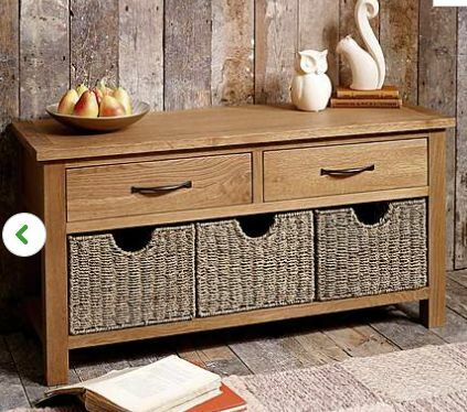 Dunelm Mill Sidmouth Oak Storage Bench Or TV Table   Only 1 Year Old   RRP