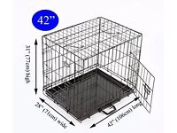 """Easipet dog crate for large dog, 42"""", like new."""