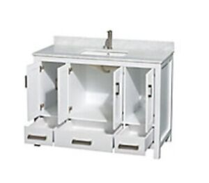 """New Wyndham Collection Marble Top 48"""" Vanity"""