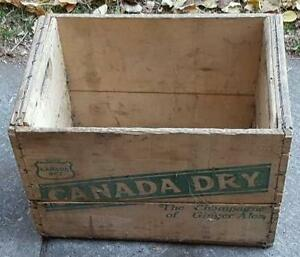 RP2188 Vintage Canada Dry Ginger Ale Soda Pop Wood Wooden Crate Kawartha Lakes Peterborough Area image 4