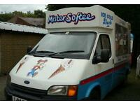 FORD TRANSIT SOFT ICE CREAM VAN WORKING DAILY