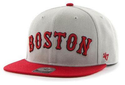 Boston Red Sox Flat Bill Hats (BOSTON RED SOX MLB FLAT BILL SURE SHOT 47 BRAND CAPTAIN SNAPBACK CAP HAT NEW! )