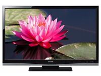 "Sharp Aquos 46"" inch Full HD LCD TV, 1080p, Freeview, 3 x HDMI, Flat Screen Television not 40 42 43"