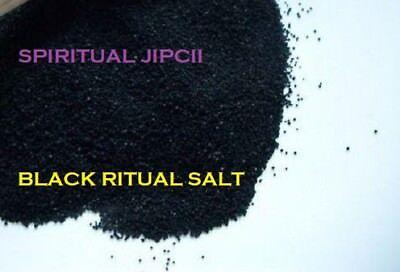 1 LB BLACK SALT Ritual Witchcraft Wicca Pagan OCCULT Voodoo SANTERIA Gothic JINX