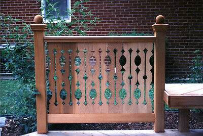 17 EMPIRE FLAT SAWN CEDAR BALUSTER /  Porch Or Deck Railing / Display shows 7