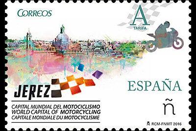 Motorcycling World Capital: Jerez mnh stamp 2016 Spain