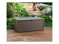 NEW KETER BRIGHTWOOD BENCH/STORAGE BOX