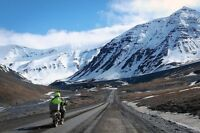 Motorcycle adventure from London to Gaspe,  Newfoundland, Alaska
