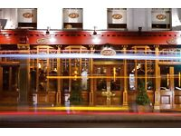 PJ'S BAR & GRILL, CHELSEA REQUIRES EXPERIENCED WAITER / WAITRESS Earn £400 + per week OTE