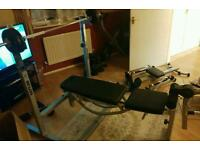 Kettler weights bench and weights