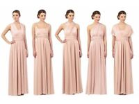 Two Debenhams Debut Multiway Bridesmaid Dresses in Rose - Blush Pink - Size 12 - 1 New, 1 Worn Once