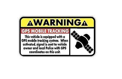 Warning Gps Mobile Tracking Decal   Car Truck Home Atv Utv