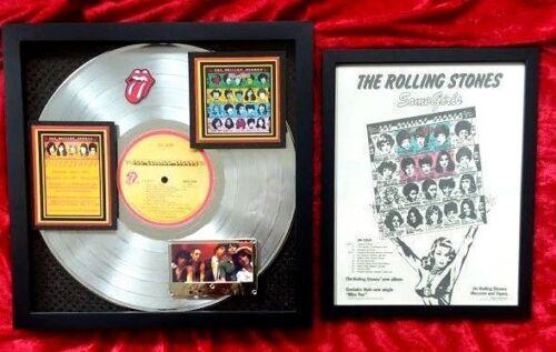 Rolling Stones SOME GIRLS Platinum Record Award + Concert Poster 6-million