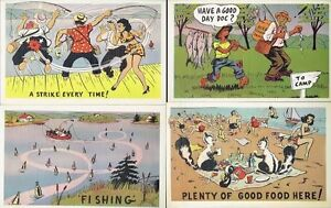 12 Different 1950s Vintage Unused 'Humorous Cartoon' Post Cards