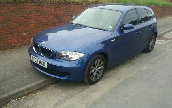 Breaking BMW 1 Series blue 2007
