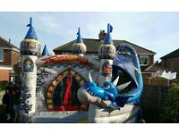 Dragon age 3d castle combi slide bouncy castle