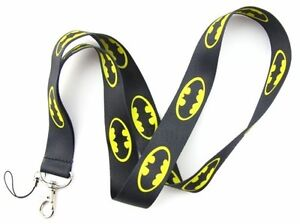 BATMAN BLACK FUNKY NECK LANYARD. MOBILE PHONE STRAP. ID CARD. KEYS.