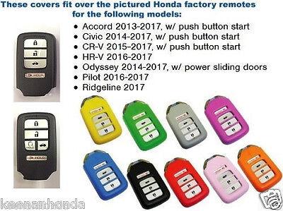 Silicone Rubber Smart Key Remote Cover - 4 / 5  Button Fits: Honda CR-V 15-17