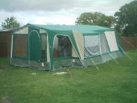 *****LARGE TENT*****6 MAN PLUS- FOR 95.00 - WITH THREE BEDROOMS LARGE LOUNGE KITCHEN AREA AND PORCH