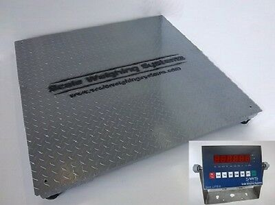 5 X 5 10000 Lbs Ntep Legal For Trade Industrial Floor Scale All Metal Display