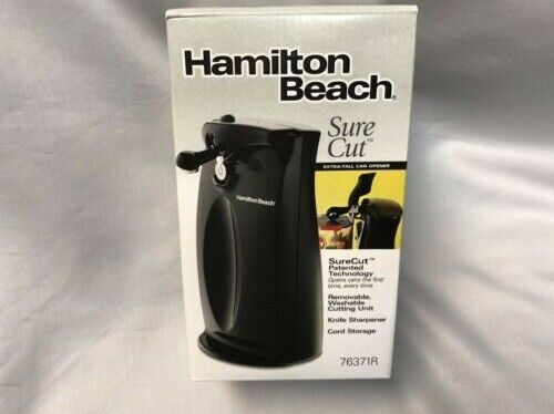 Hamilton Beach Sure cut Electric Can Opener black built in k