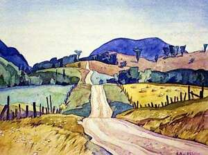 "A.J. Casson ""Country Road"" Lithograph - Appraised at $500"