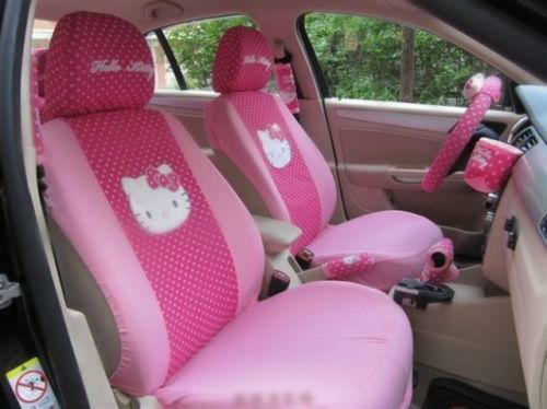 hello kitty interior car accessories ebay. Black Bedroom Furniture Sets. Home Design Ideas