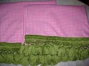 Pottery Barn Pink Gingham