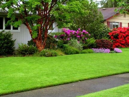 Lawn mowing and garden services