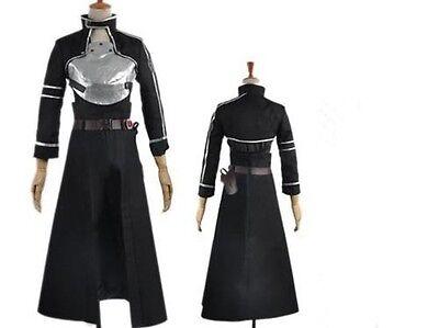 Sword Art Online GGO Kirito Men's Cosplay Costume NEW