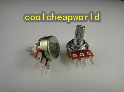 50pcs B20K 20K OHM Linear Taper Rotary Potentiometer Pots Shaft 15mm for sale  China
