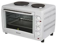 Igenix 45Litre Electric Mini Oven with Double Hotplates Brand New unopened box unopened box