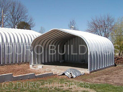 Durospan Steel 25x24x12 Metal Carport Building Garage Open Ends Factory Direct