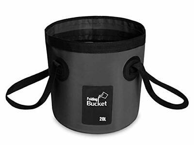 BANCHELLE Collapsible Bucket Camping Water Storage Container Portable Folding