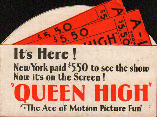 Queen High Original  Movie Herald  from the 1930 Movie