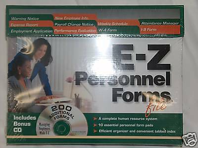 Made Ez Software - Made EZ Personnel Forms File Free Shipping