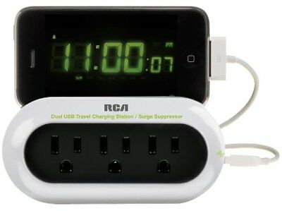 RCA PCHSTAT2R Portable Charging Station for Cell Phone, MP3, Electronics (White)