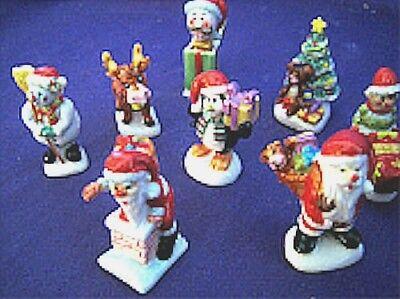 Gel Candle Embeds - Christmas Theme, Porcelain Miniature Collectible, Porcelain Embeds, Gel Candle