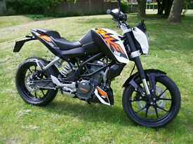 KTM DUKE 125 ABS 2016 MOTORCYCLE