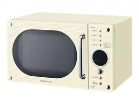 Vintage style cream Daewoo microwave for sale