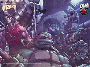 Teenage Mutant Ninja Turtles TMNT Wizard Magazine Poster