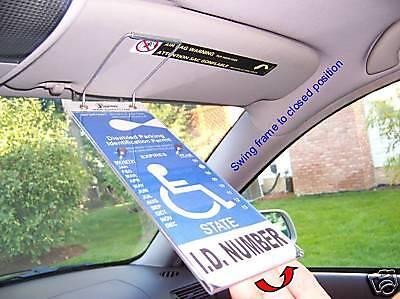 Visortag Vertical VTD110 Handicap Placard Protector Cover Sleeve Plastic Holder