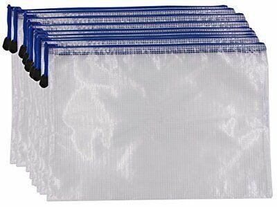 Zipper File Folder Bags - 10pcs Legal A4 Size Paper Document Pouches Clip-on Zi